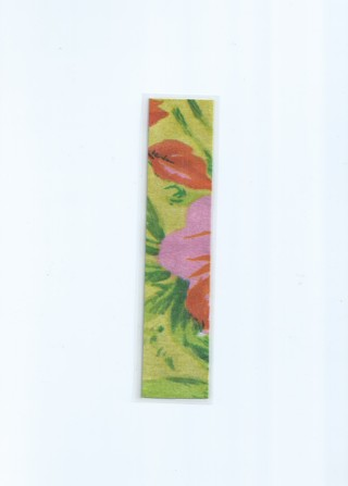 Fabric Floral Double-Sided Laminated Bookmark