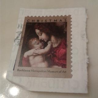 Two  USA Stamps Madonna & Child