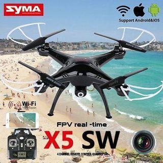 Syma X5SW 2.4Ghz 6-Axis Gyro RC Quadcopter Drone UAV RTF UFO with HD Camera