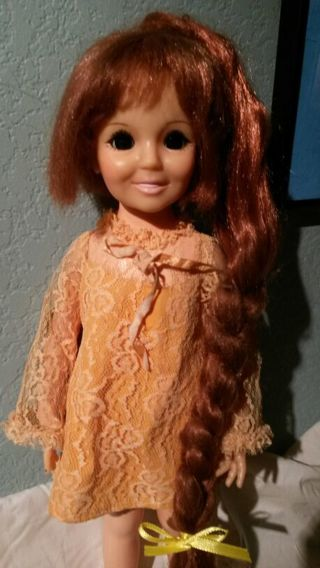 "vintage 1969 Crissy grow hair 18"" doll by IDEAL"