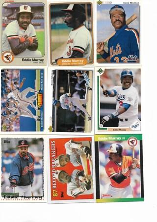 (9) Eddie Murray Baseball Cards
