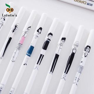 1 Piece Lytwtw's Stationery Kawaii Cute Creative hand painted Characters Pen Handles School Suppli