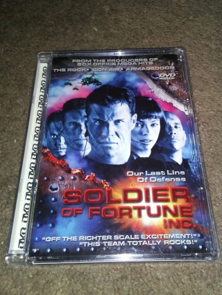 """Soldier of Fortune Inc. DVD """"Our Last Line of Defense""""."""