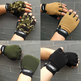 Winter Mens Antiskid Cool Knitted Cycling Gym Fitness Sports Half Finger Gloves