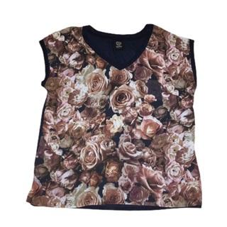 BOBEAU Floral Sleeveless Top Large