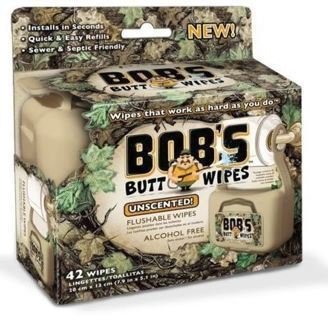 NEW Bob's Butt Wipes KIT CAMPING/RV Flushable Wipes Hangs Safe Septic Sewer
