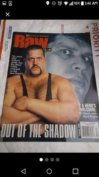 Wwe raw magazine january 2003