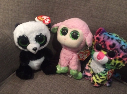CHOOSE ONE: Ty Boo Dotty, Babs & Bamboo with tags