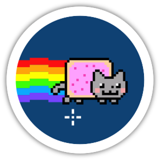 Collectible NFT Badge: I ❤️ Nyan Cat Frame #4 of 12