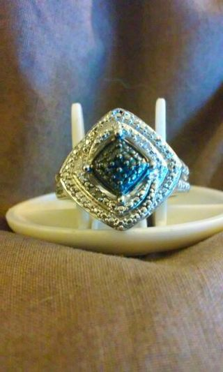 ~~Genuine Black and White Diamonds Accent Ring~~