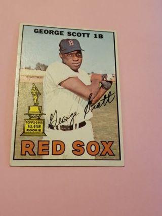 1967 George Scott Boston red Sox vintage baseball card