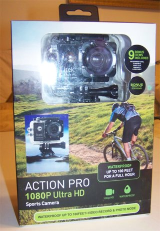 "BNIB Action Pro 1080P Ultra HD Sports Camera Waterproof ITek By Soundlogic LCD 2"""
