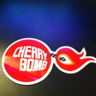fdf41ef48fef Free  Cherry Bomb Glass pack Exhaust Window Decal - Other Car Items ...