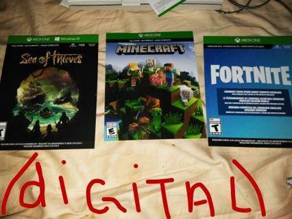 3 XBOX ONE DIGITAL GAMES