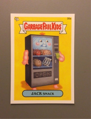 2012 Topps Garbage Pail Kids Sticker Card #35a • JACK SNACK • See Photos