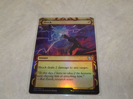 Magic the gathering mtg Shock foil card Strixhaven