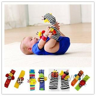 New Baby Infant Soft Toy Developmental Wrist Strap Foot Socks Rattle Bug Finders
