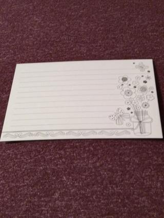 Lined Cards - Floral Vase