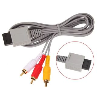 1.8m Component cable Audio Video AV Composite 3 RCA Cable for Nintendo Wii