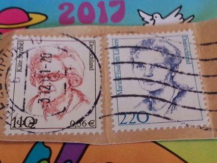 Two German stamps Kate Strobel and Marie Elisabeth Luders #22