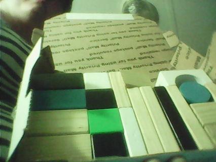 small flat rare box of blocks