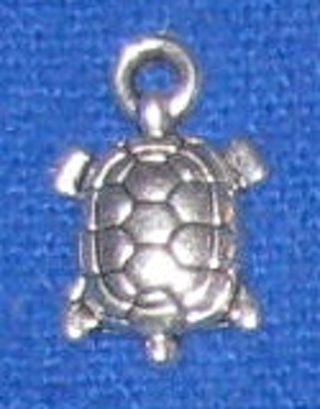 1 Silver turtle charm New