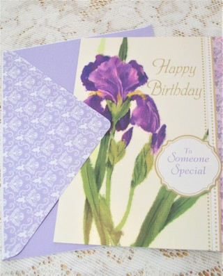Beautiful Large Birthday Card and Envelope