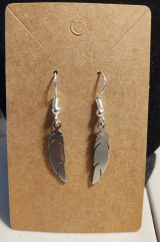 Surgical Steel Feather Earrings