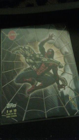 Spider-Man glow-in-the-dark sticker from tops