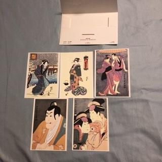 5 Ukiyo E Sharaku Kunisada postcards