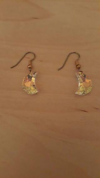 Swarovski Crystal Crescent Moon Earrings