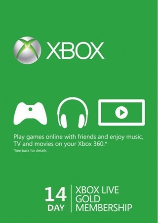 14 DAY XBOX LIVE TRIAL CODE