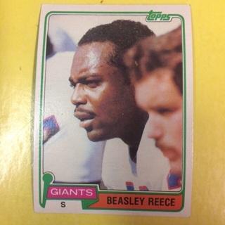1981 Topps #504 S Beasley Reece - Giants