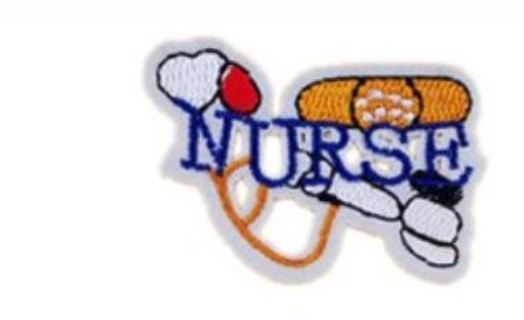 NEW NURSE IRON ON PATCH Embroidered Clothing Applique Accessories