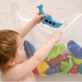 [GIN FOR FREE SHIPPING] Bath Tub Organizer Storage Basket Kids Baby Shower Toys Net