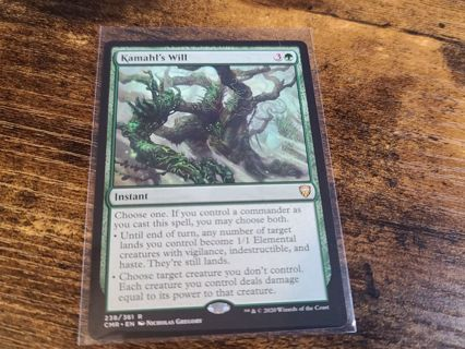 Magic the gathering mtg Kamahls will rare card Commander Legends