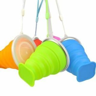 Convenient Tool Mug Water Camping Tea Outdoor Travel Collapsible Silicone Cup