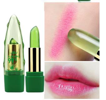99% ALOE VERA Natural Temperature Change Color Jelly Lipstick Long Lasting Moistourizing Lip