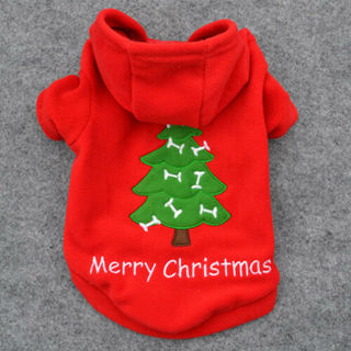 Pet Warm Clothes Christmas Gifts Santa Dog Cat Jacket Coat Shirt Puppy Apparels