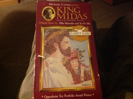 VHS- MICHAEL CANE NARRAITS KING MIDAS. a& THE GOLDEN TOUCH