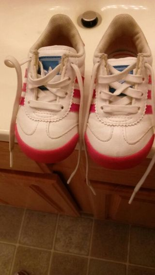 Adidas toddler girl shoes size 4