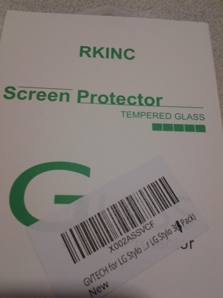 RKINC TEMPERED GLASS SCREEN PROTECTOR QTY - 1 SCREEN