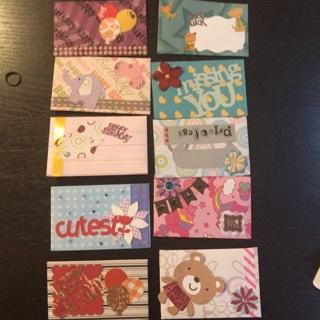 Handmade 10 gift envelopes