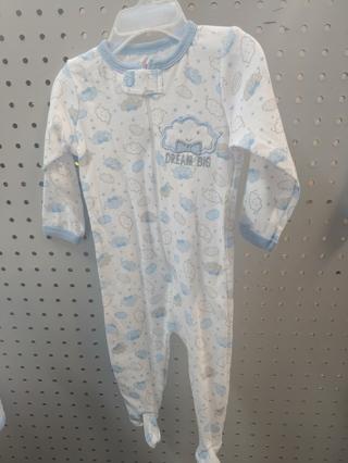 "NWT! Swiggles Baby Boys Sleeper ""DREAM BIG"" Size: 3-6 Mths 100% Cotton  Free Shipping"