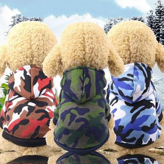 Warm Camouflage Printed Dog Hoodies Pet Puppy Dog Cat Coat Outwear Costumes