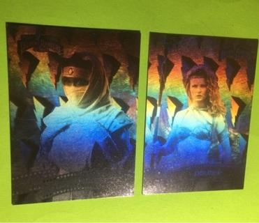 2 Power Rangers 1995 Hologram Cards!