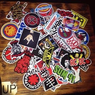 3 random punk rock band stickers