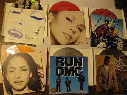 CD Lot: Run DMC, Salt 'n Pepa, Sade, Madonna, Brown, Carey