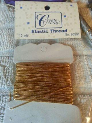 Beading cord gold elastic