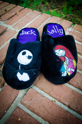 free jack and sally slippers nightmare before christmas